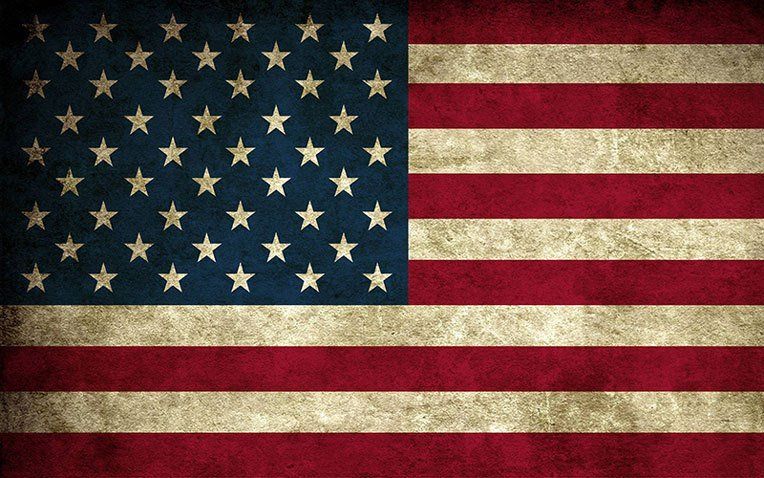 Amish furniture-Usa Flag