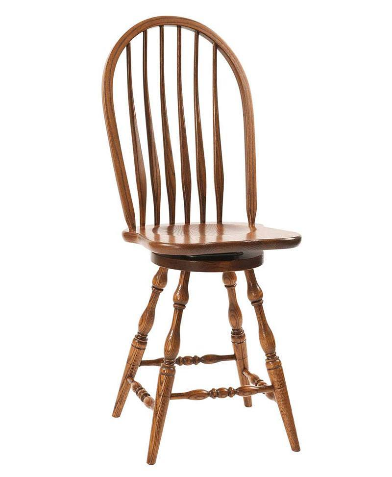 Bent Feather Bow Bar Stool