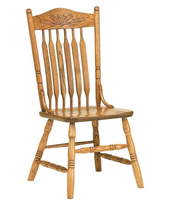 Bent Paddle Post Wheat Dining Chair
