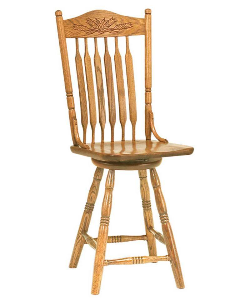 Bent Paddle Post Bar Stool