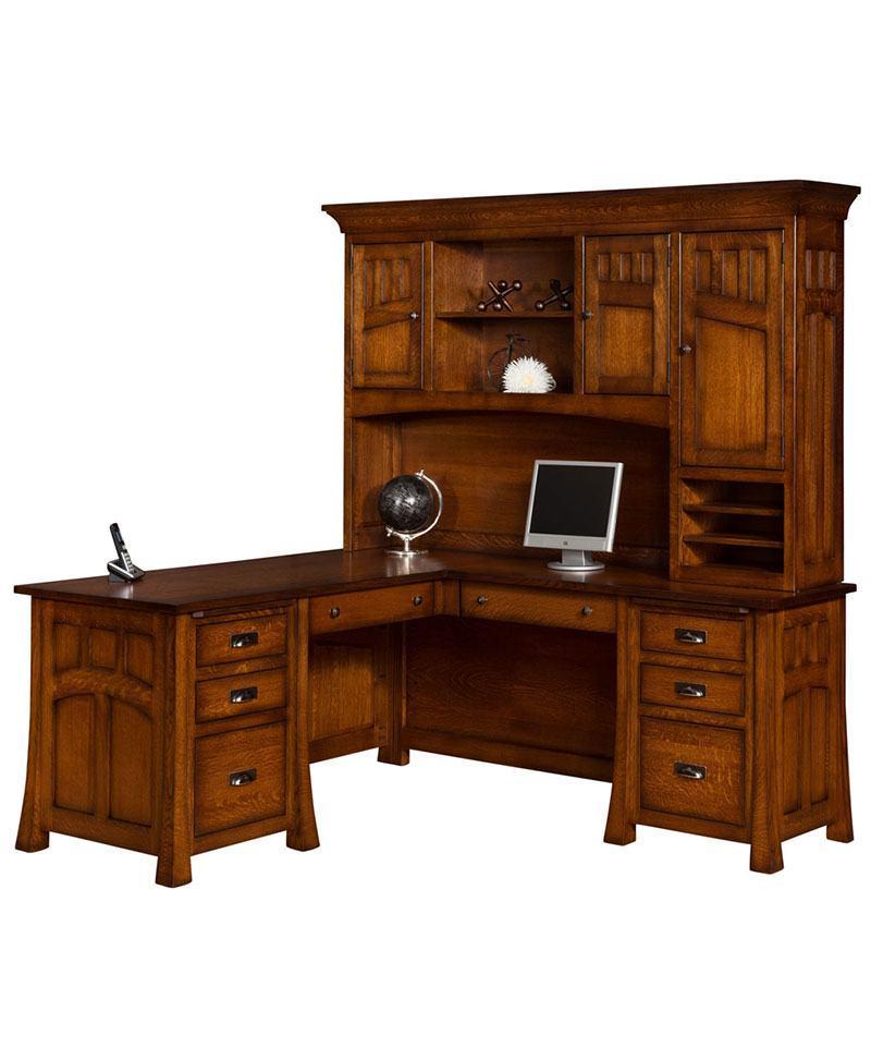Bridgefort Mission Corner File Desk