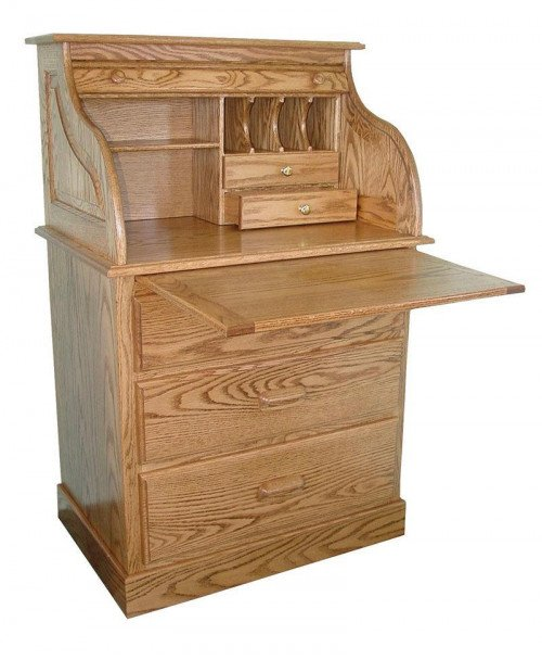 Full Pedestal Rolltop Desk