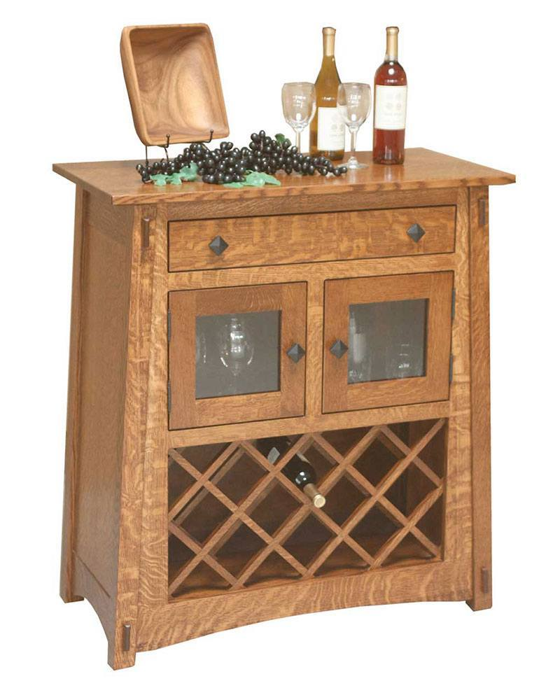McCoy Server w/ Wine Rack
