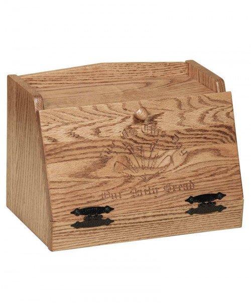 Oak Bread Box Message