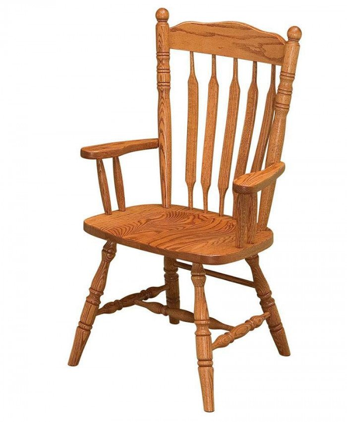 Post Paddle Arm Chair