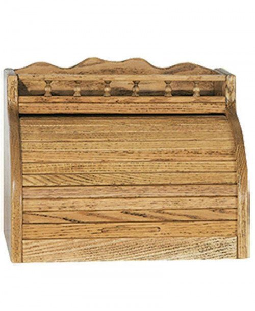 Roll Top Bread Box with Rail