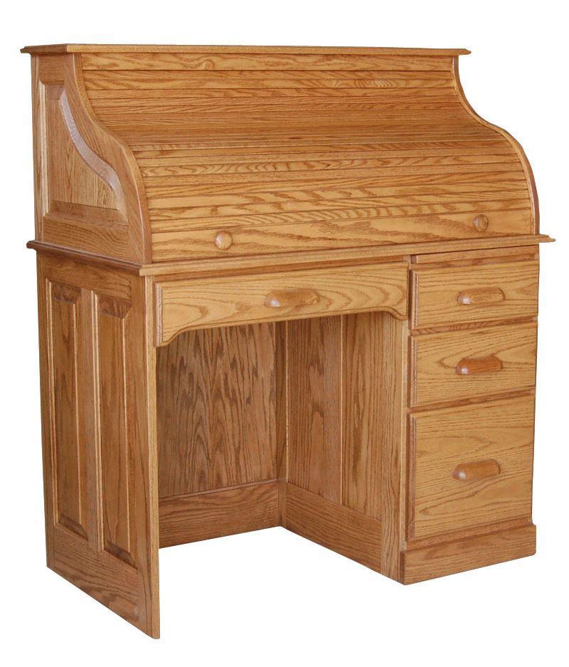 Single Pedestal Rolltop Desk