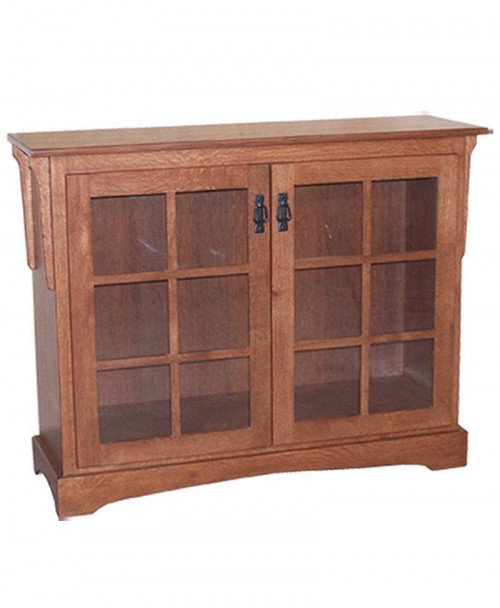 Small Mission Bookcase with Doors