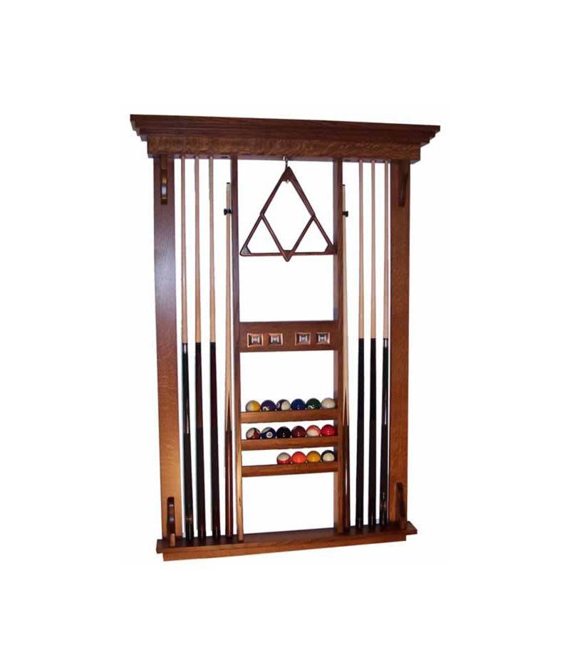 Deluxe Pool Table Accessories Wall Rack
