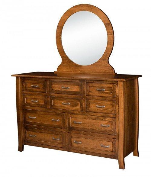 Batavia 10 Drawer Dresser with Optional Mirror