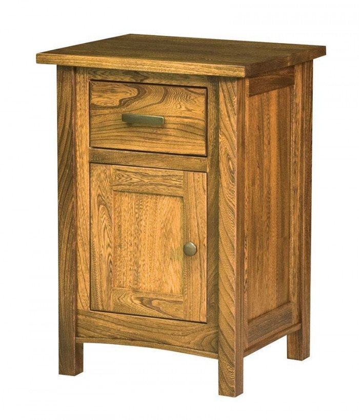 Brooklyn Mission 1 Drawer 1 Door Night Stand