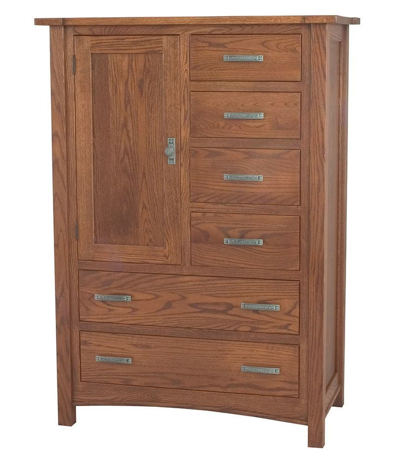 Brooklyn Mission 6 Drawer 1 Door Chest