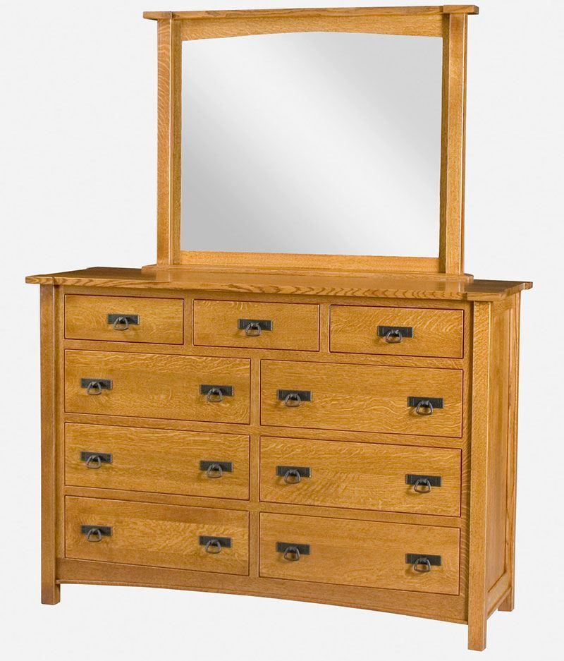 Brooklyn Mission 9 Drawer Dresser