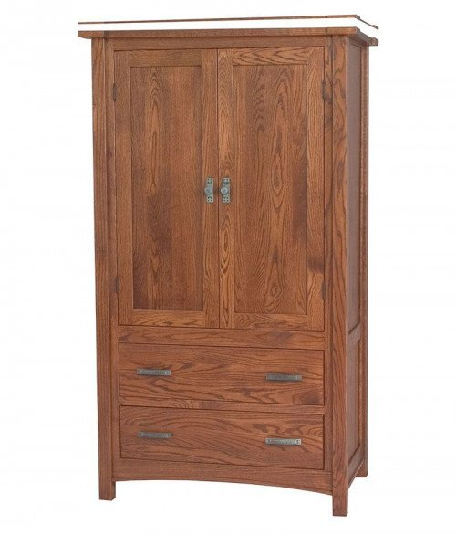Brooklyn Mission 2 Door 2 Drawer Armoire