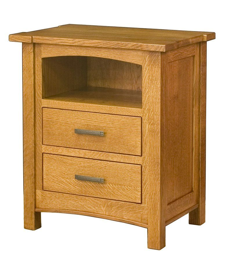 Brooklyn Mission 2 Drawer Bedside Chest