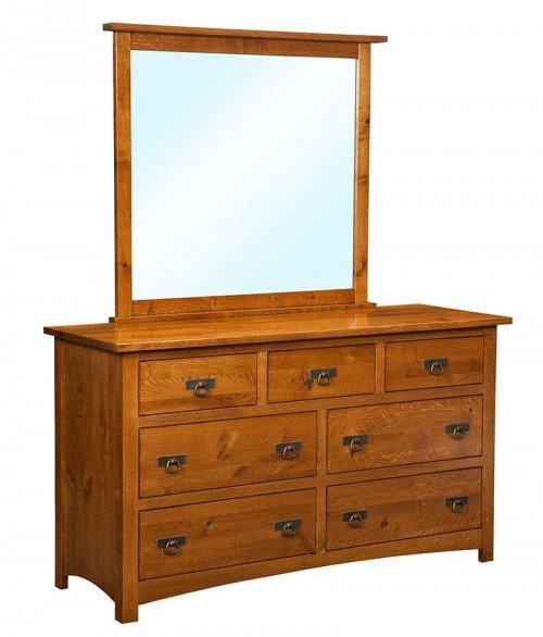 Classic Mission 7 Drawer Dresser