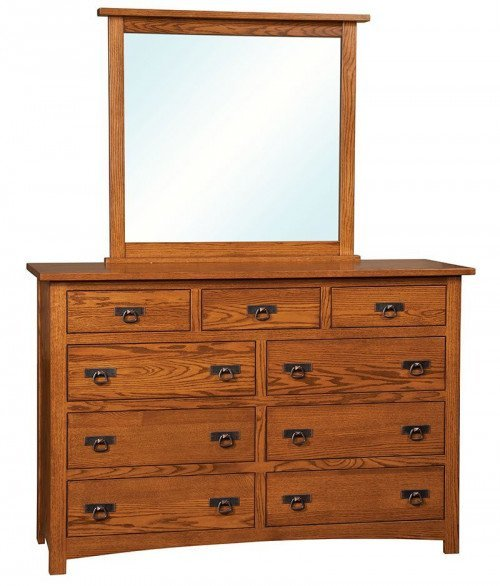Classic Mission 9 Drawer Dresser