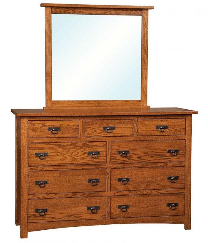 Classic Mission 9 Drawer Dresser