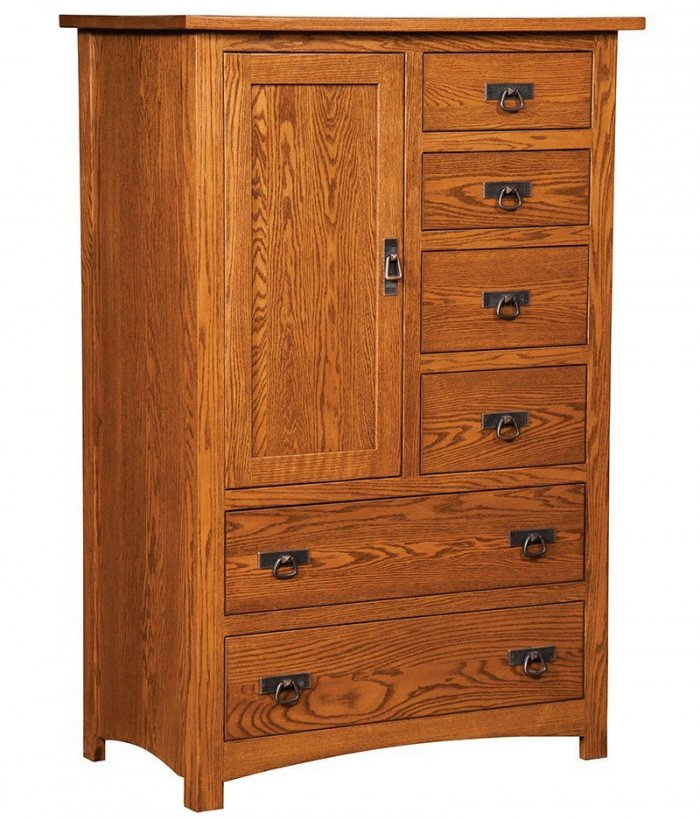 Classic Mission 6 Drawer 1 Door Gent. Chest