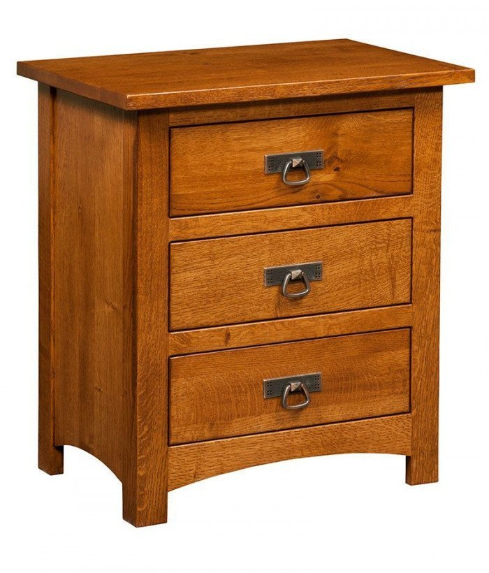 Classic Mission 3 Drawer Night Stand