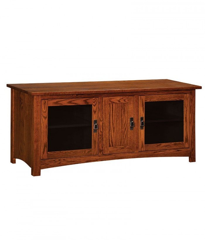 Classic Mission Plasma TV Stand 3 Door