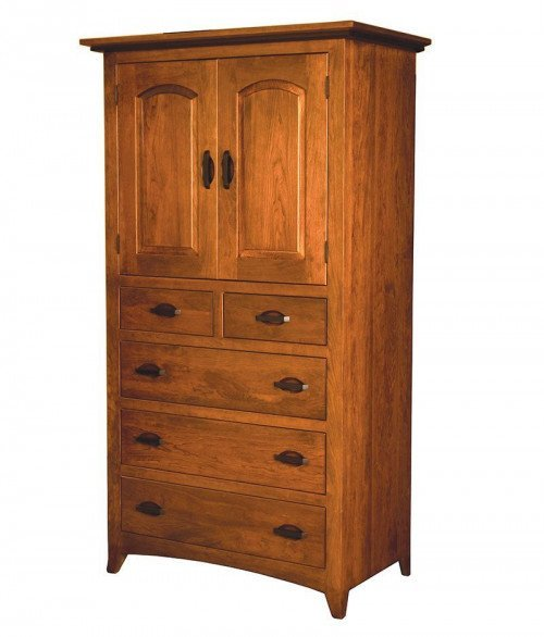 Classic Shaker 5 Drawer 2 Door Armoire