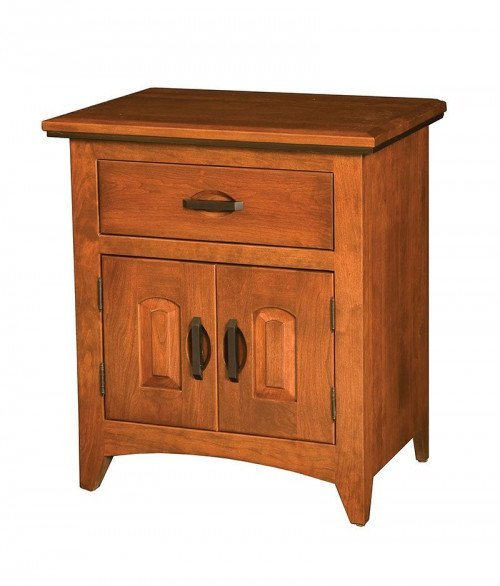 Classic Shaker 1 Drawer 2 Door Night Stand