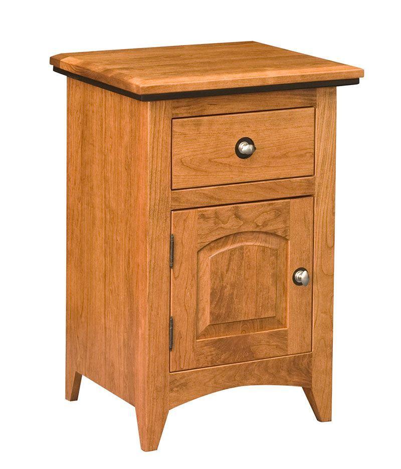 Classic Shaker 1 Drawer 1 Door Night Stand