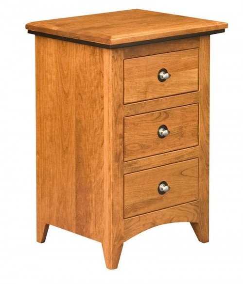 Classic Shaker 3 Drawer Night Stand