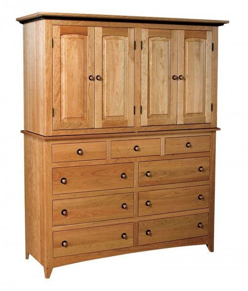 Classic Shaker 9 Drawer 4 Door Mule Armoire