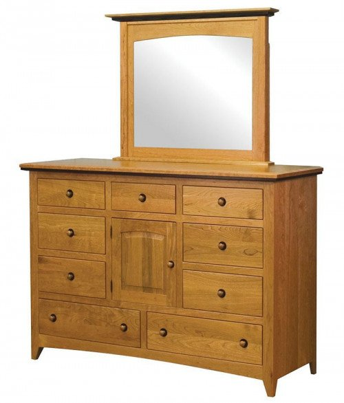Classic Shaker 9 Drawer 1 Door Dresser