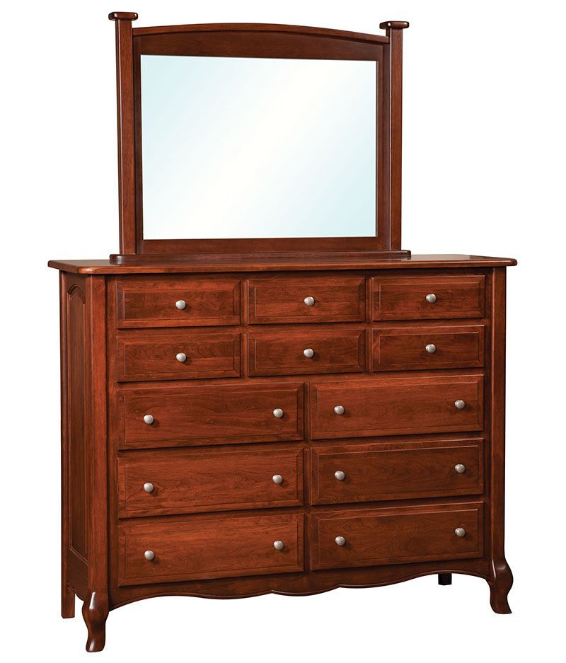 French Country 12 Drawer Dresser With Optional Mirror