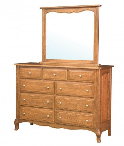 French Country 9 Drawer Dresser