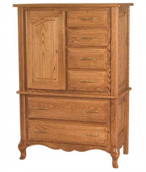 French Country 6 Drawer 1 Door Chest