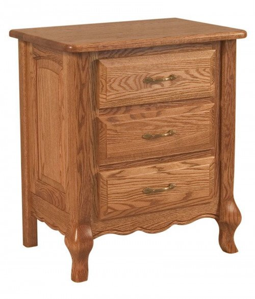 French Country 3 Drawer Night Stand