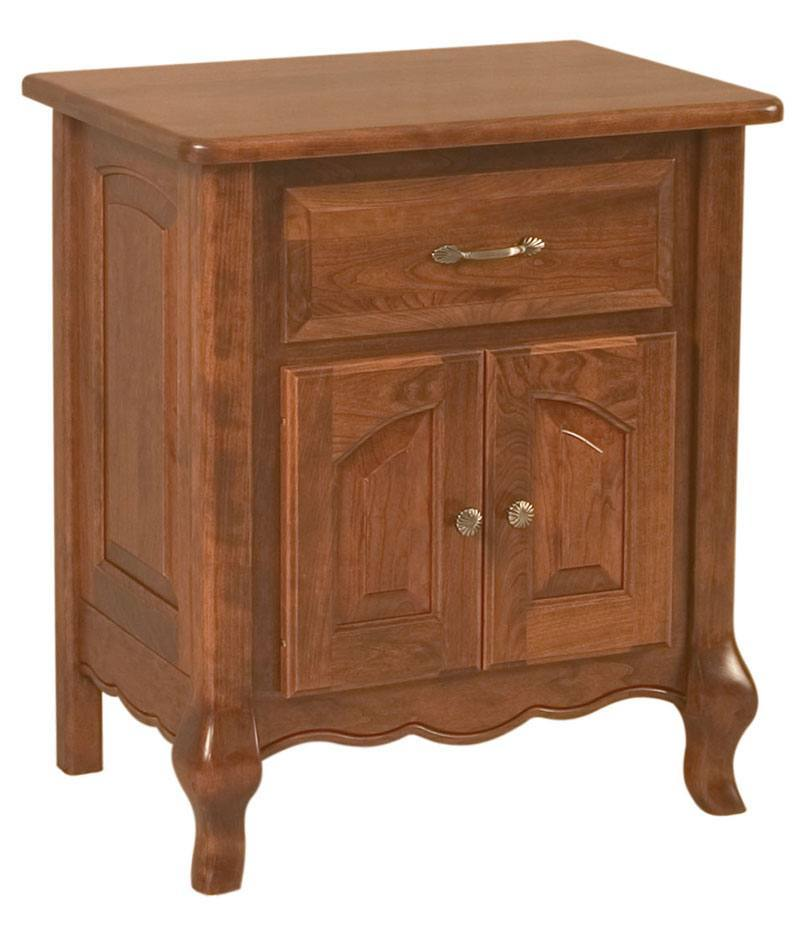 French Country 1 Drawer 2 Door Nightstand