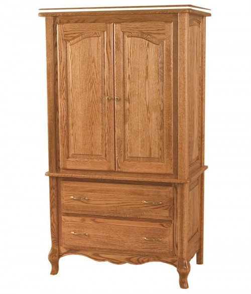 French Country 2 Drawer 2 Door Armoire