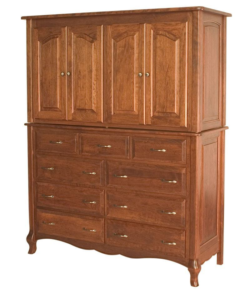French Country 9 Drawer 4 Door Mule Armoire