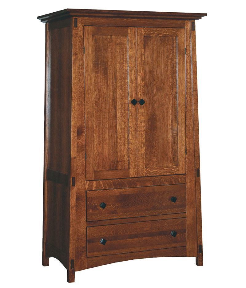 McCoy 2 Drawer 2 Door Armoire