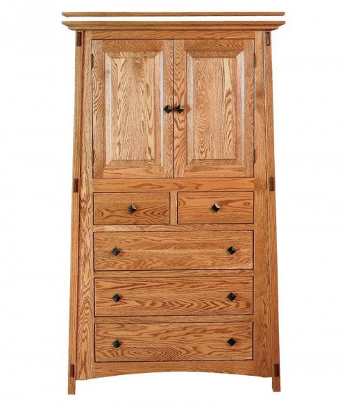 McCoy 5 Drawer 2 Door Armoire