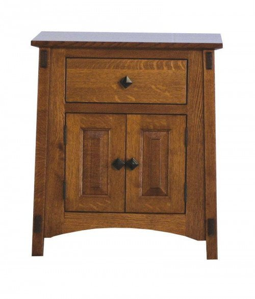 McCoy 1 Drawer 2 Door Night Stand