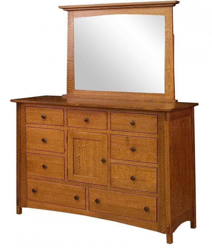 McCoy 9 Drawer 1 Door Dresser