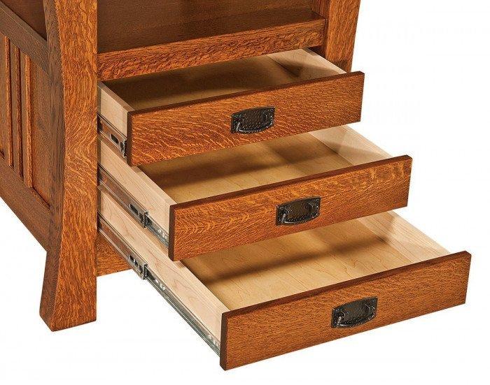 Arts & Crafts Cabinet Drawer-Detail