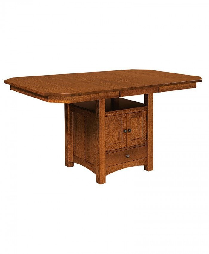 Basset Cabinet Table with Leaf