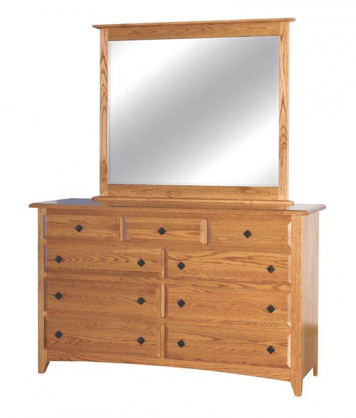 Shaker 9 Drawer Dresser