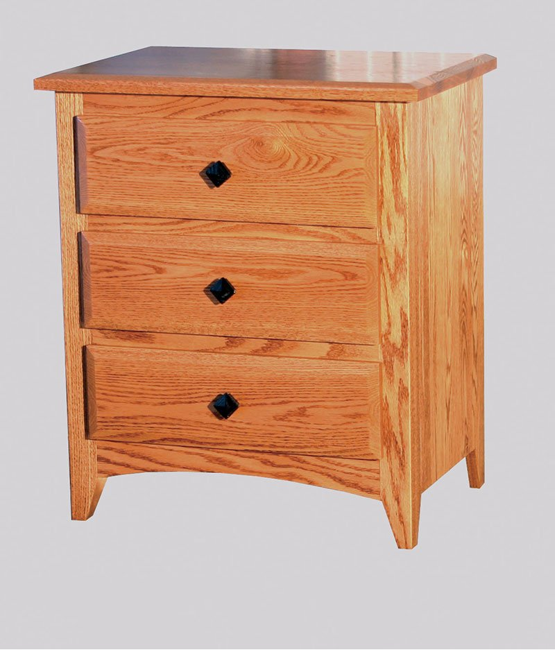 Shaker 3 Drawer Night Stand