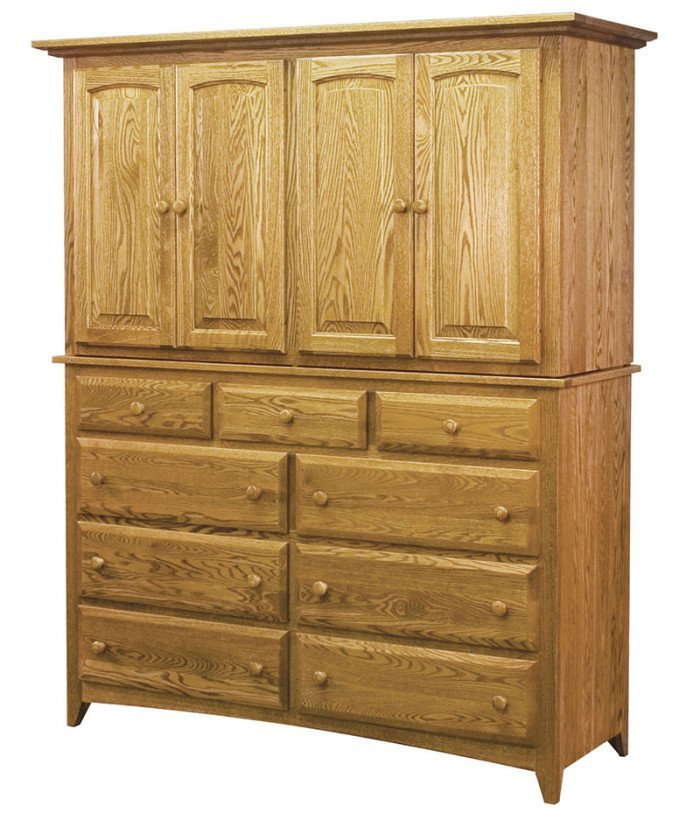 Shaker 9 Drawer 4 Door Mule Armoire