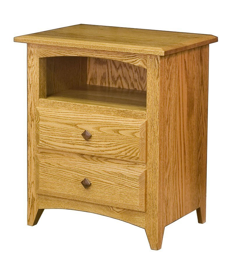Shaker 2 Drawer Bedside Chest