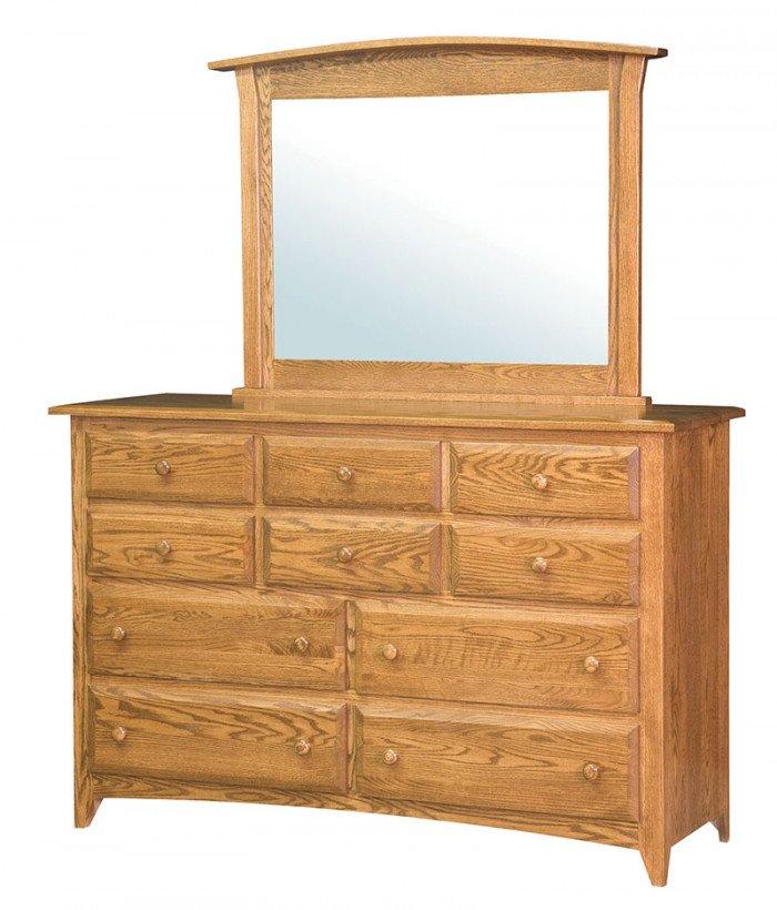 Shaker 10 Drawer Dresser