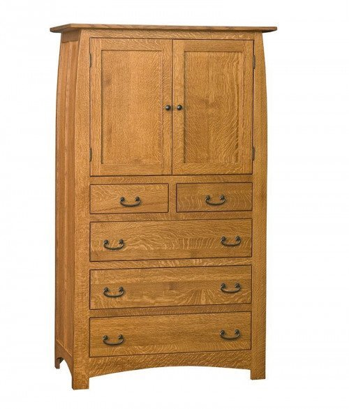 Superior Shaker 5 Drawer 2 Door Armoire